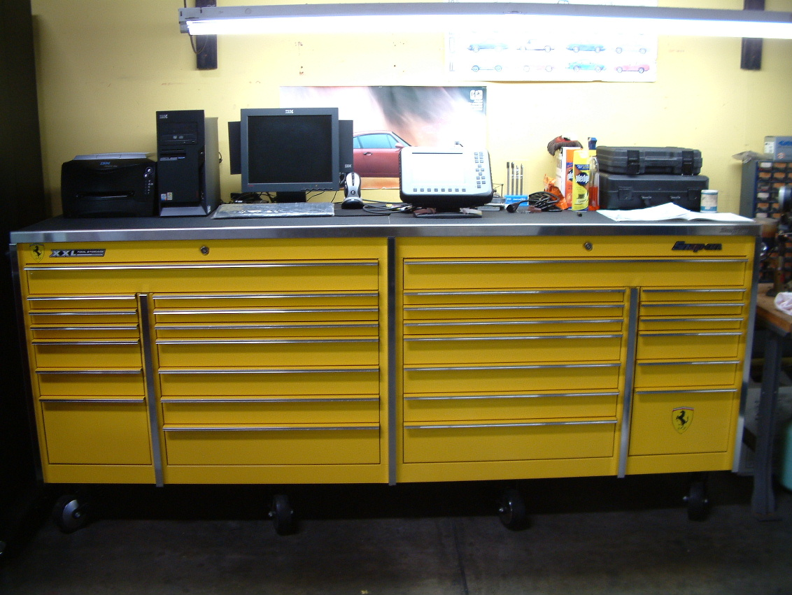 One of our 7 Snap On boxes. It's Ferrari fly yellow!